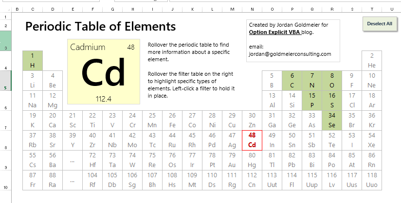 Periodic table of elements xls urtaz Choice Image