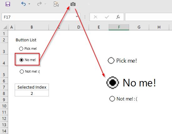Enlarging Form Control Option Buttons | Option Explicit VBA